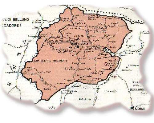 Mappa della Repubblica di Carnia