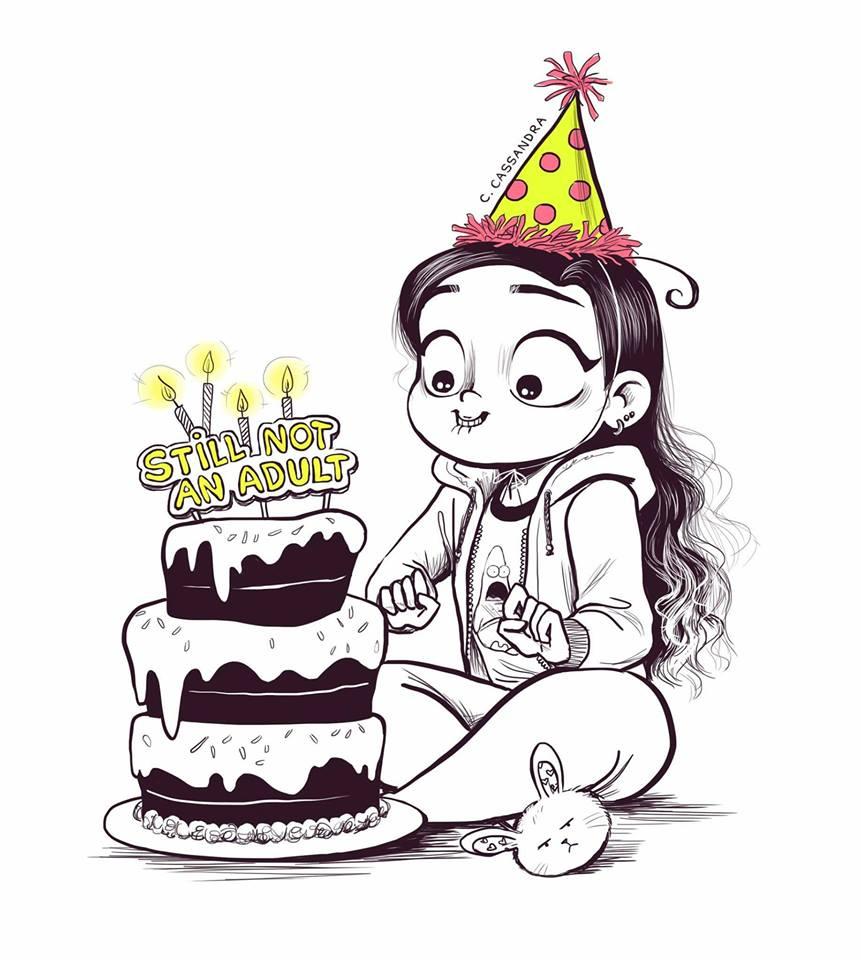 Dany agnes vuole disegnare e sfrutta il suo non compleanno for Unicorno triste