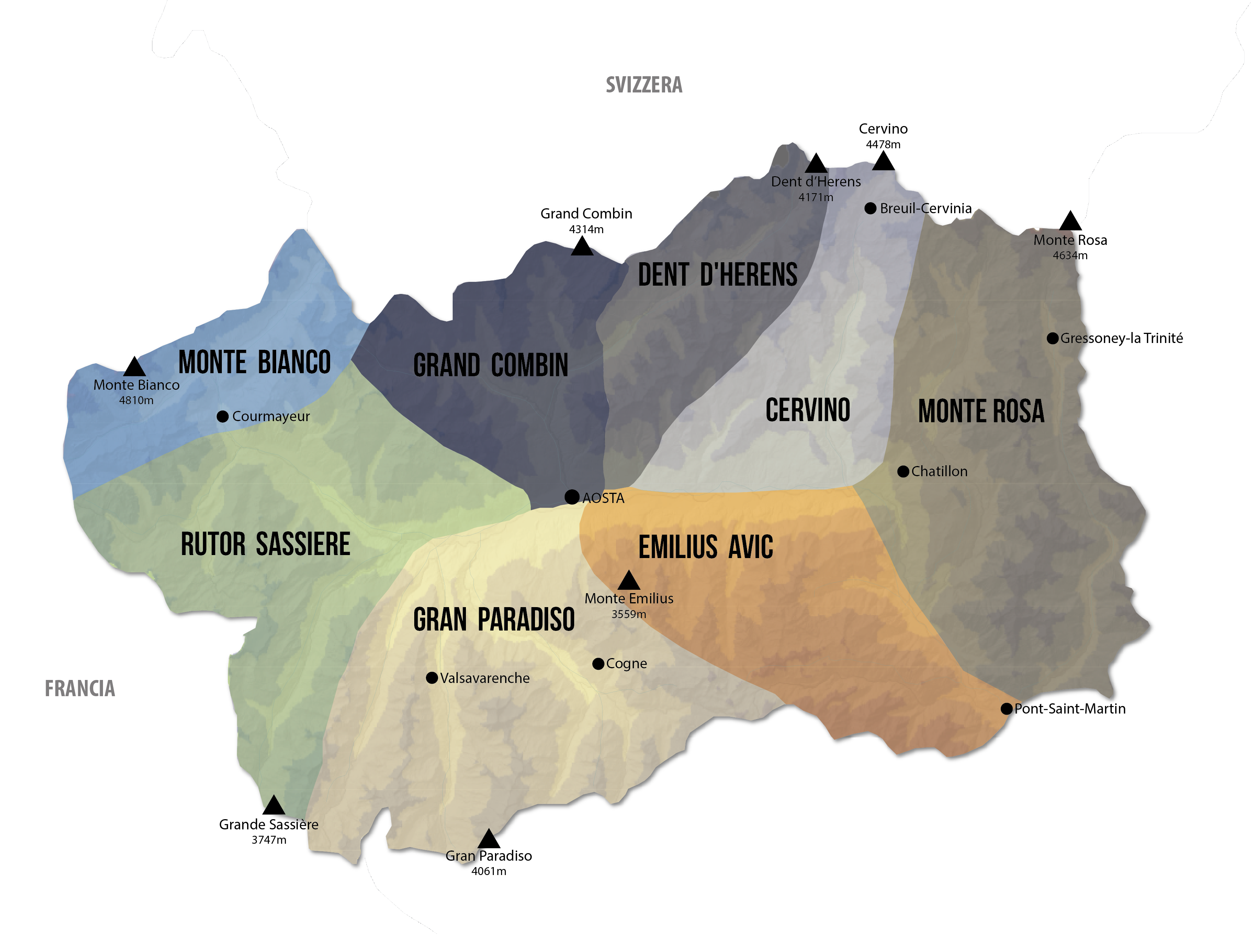 Cartina Della Valle D Aosta Da Stampare.Vie Normali Valle D Aosta Monte Rosa Crowdfunding
