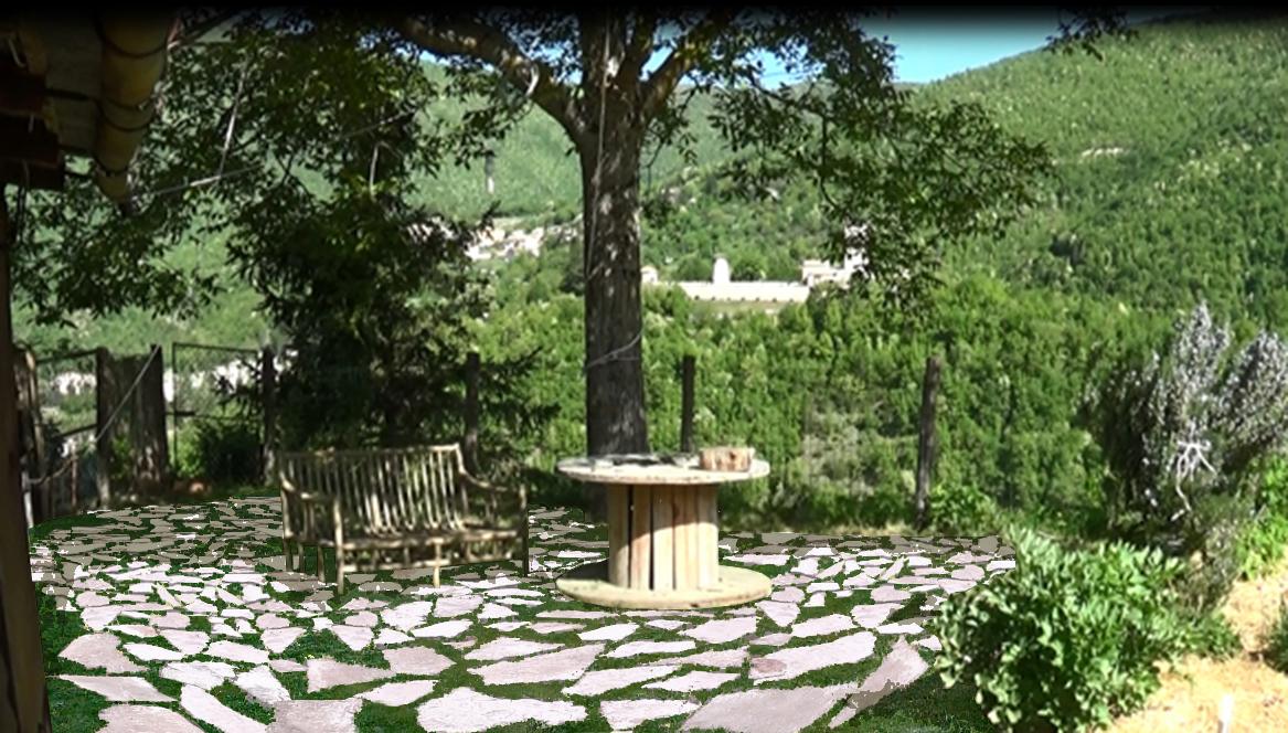 Sostieni la casa dell 39 ortigiana mettici una pietra - Pavimentazione giardino senza cemento ...