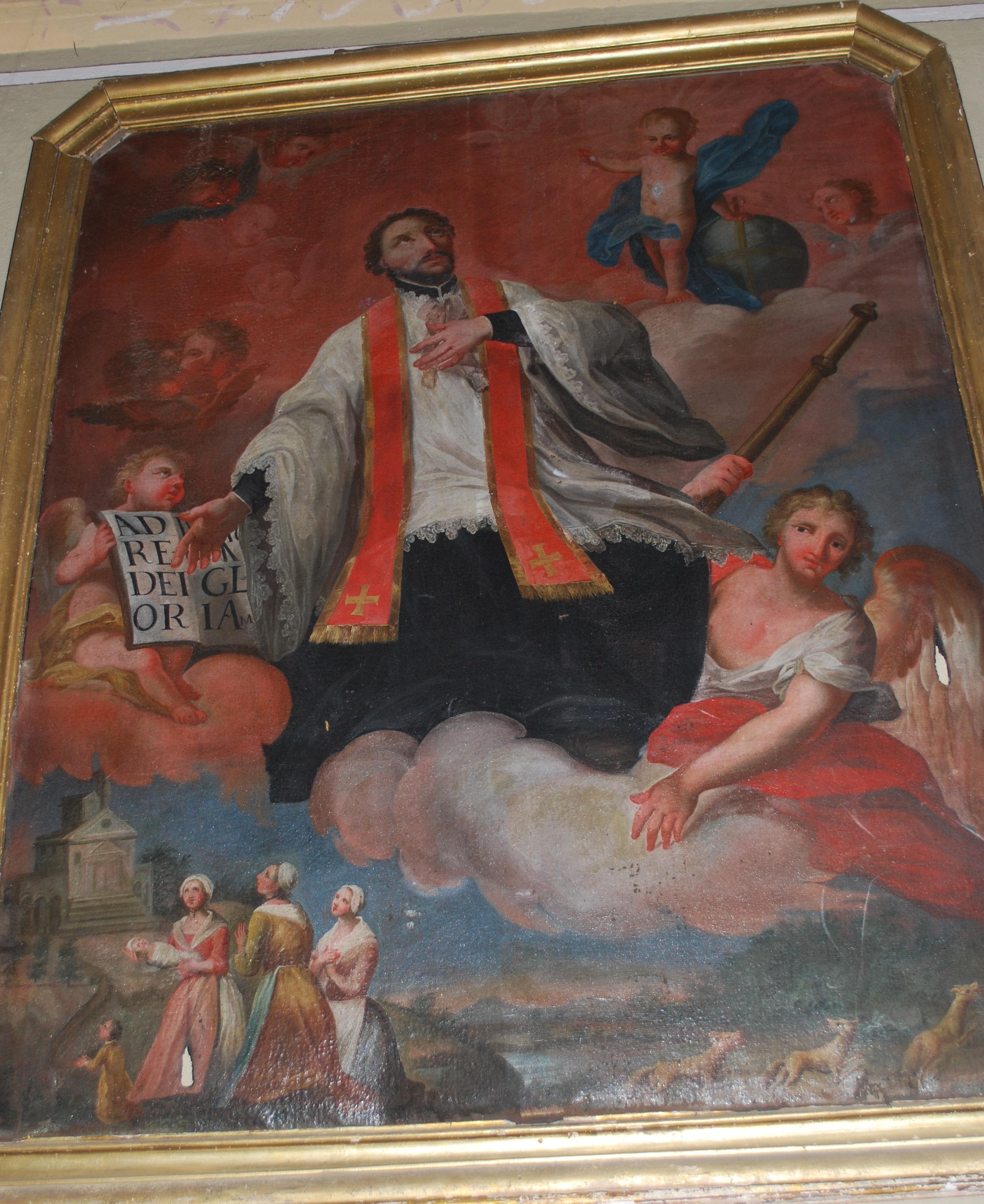 Mezzenile Progetto di restauro di dipinto raffigurante Sant'Ignazio di Loyola nella chiesa di ...