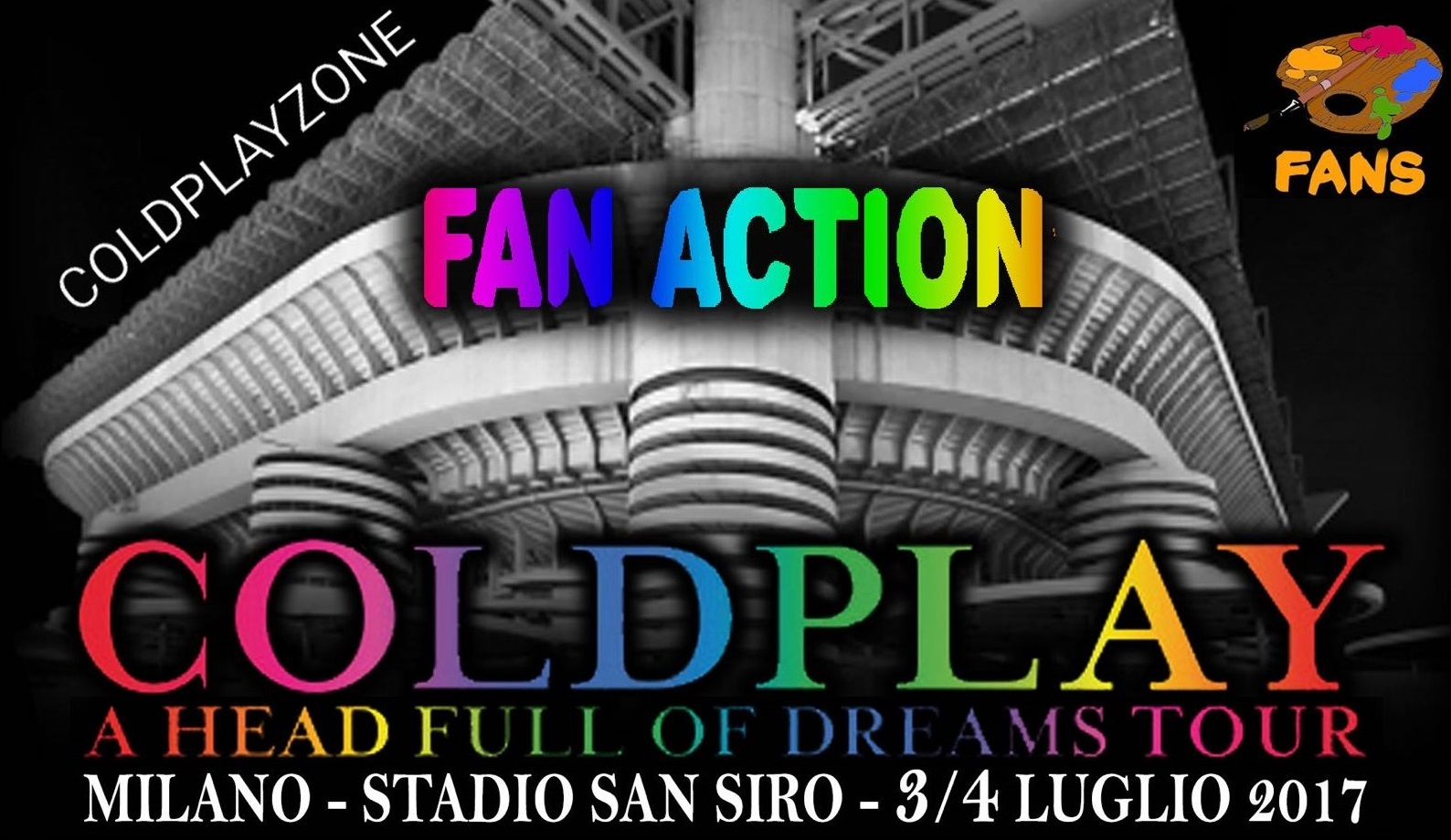 FanAction Coldplay Milano Sansiro
