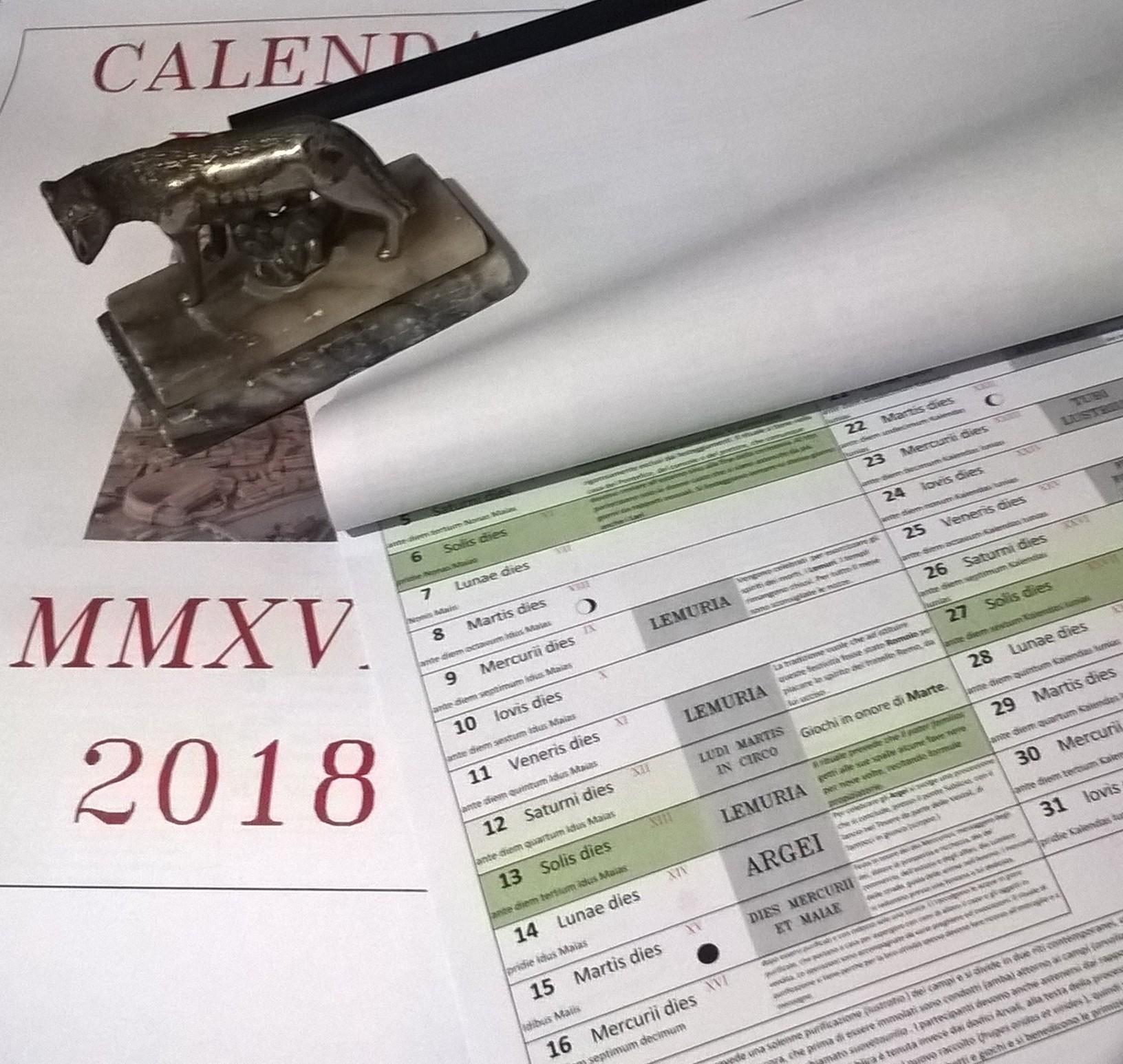 Calendario Romano MMXVIII (2018)