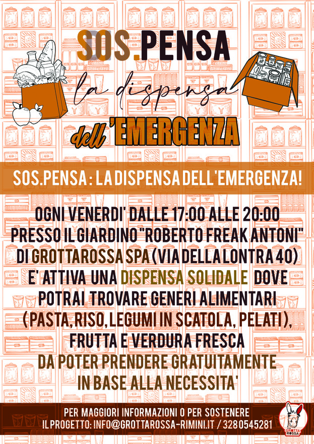 SOSTIENI SOS.PENSA LA DISPENSA DELL'EMERGENZA CROWFUNDING